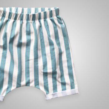 Harem Shorts - Streifen aqua