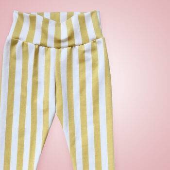 Leggings - Streifen gold