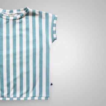 T-Shirt - Streifen aqua