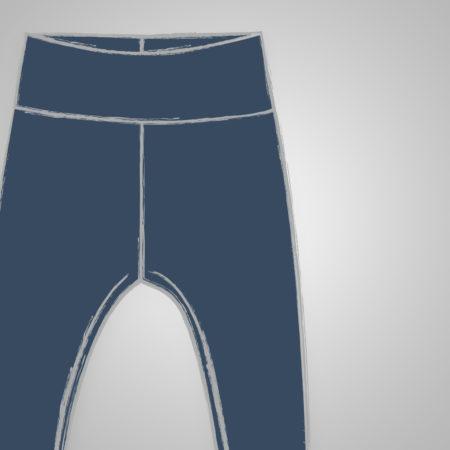 Leggings - Uni - dunkelblau