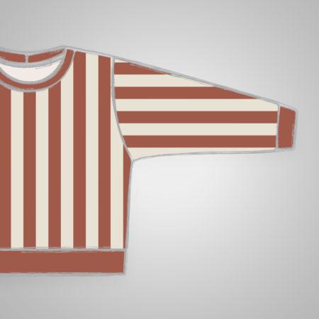 Pullover - Streifen Rost