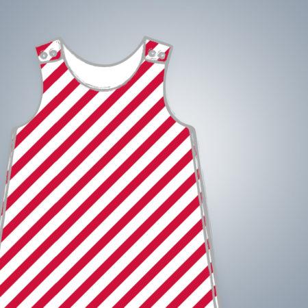Harem Romper - Diagonal Stripes