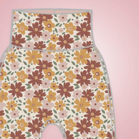 Harem Pants - Autumn Flowers
