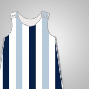 Harem Romper - Blue Stripes