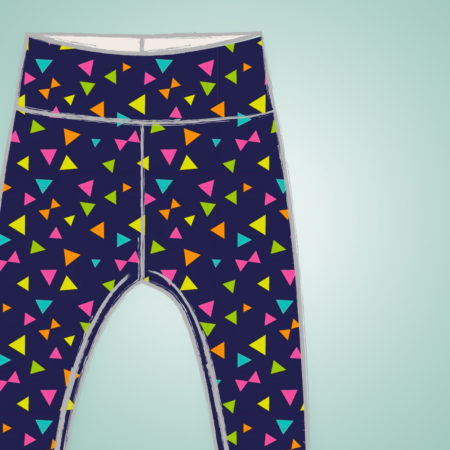 Leggings - Neon Triangles
