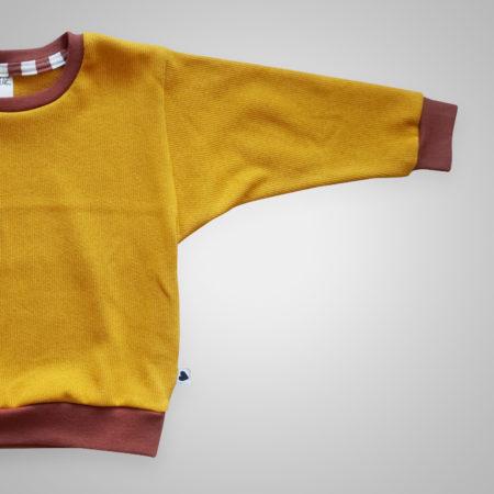 Pullover - Feinstrick Senf