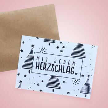 Gutscheinkarte mit Umschlag