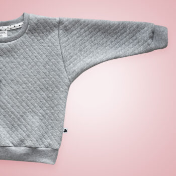 Pullover - Steppstoff Grau