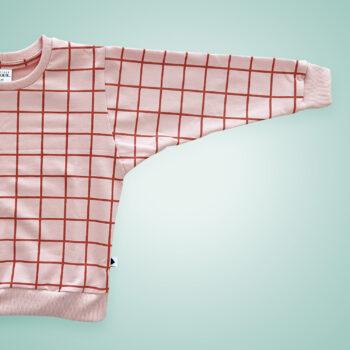 Pullover - Grid rosa