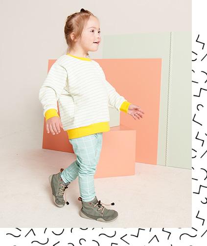 Tragebild - Leggings - Grid mint
